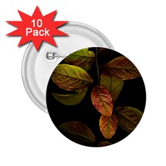 Autumn Leaves Foliage 2 25  Buttons (10 Pack)  by Celenk