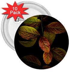 Autumn Leaves Foliage 3  Buttons (10 Pack)