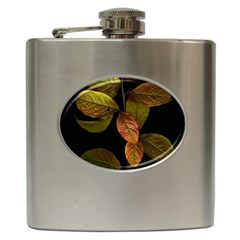 Autumn Leaves Foliage Hip Flask (6 Oz) by Celenk