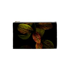 Autumn Leaves Foliage Cosmetic Bag (small)  by Celenk