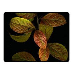 Autumn Leaves Foliage Fleece Blanket (small) by Celenk