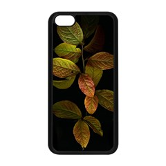 Autumn Leaves Foliage Apple Iphone 5c Seamless Case (black) by Celenk