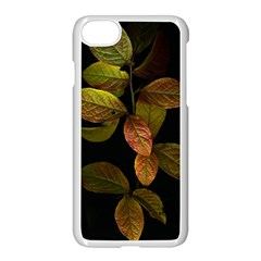 Autumn Leaves Foliage Apple Iphone 7 Seamless Case (white) by Celenk