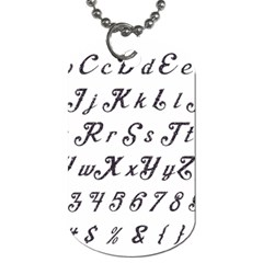 Font Lettering Alphabet Writing Dog Tag (one Side) by Celenk