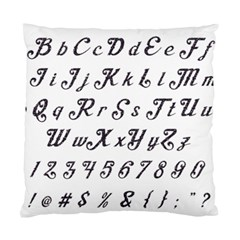 Font Lettering Alphabet Writing Standard Cushion Case (two Sides)