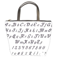Font Lettering Alphabet Writing Bucket Bags by Celenk