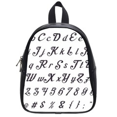 Font Lettering Alphabet Writing School Bag (small) by Celenk