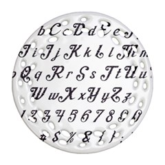 Font Lettering Alphabet Writing Round Filigree Ornament (two Sides)