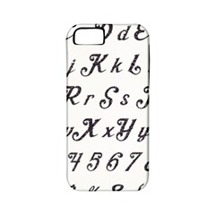 Font Lettering Alphabet Writing Apple Iphone 5 Classic Hardshell Case (pc+silicone) by Celenk