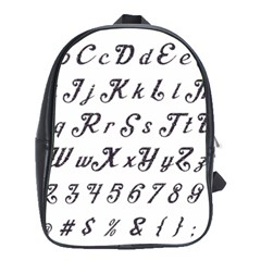 Font Lettering Alphabet Writing School Bag (xl) by Celenk