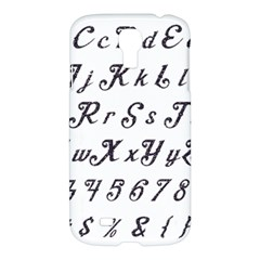 Font Lettering Alphabet Writing Samsung Galaxy S4 I9500/i9505 Hardshell Case by Celenk