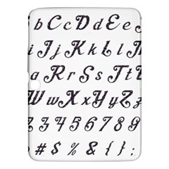 Font Lettering Alphabet Writing Samsung Galaxy Tab 3 (10 1 ) P5200 Hardshell Case  by Celenk