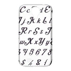 Font Lettering Alphabet Writing Samsung Galaxy S4 Classic Hardshell Case (pc+silicone) by Celenk