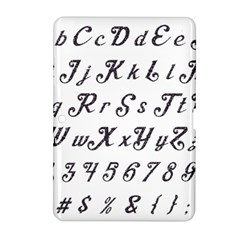 Font Lettering Alphabet Writing Samsung Galaxy Tab 2 (10 1 ) P5100 Hardshell Case  by Celenk