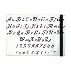 Font Lettering Alphabet Writing Ipad Mini 2 Flip Cases by Celenk