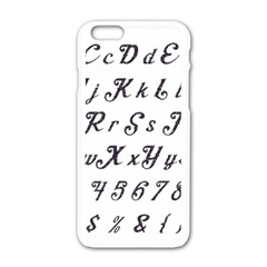 Font Lettering Alphabet Writing Apple Iphone 6/6s White Enamel Case by Celenk