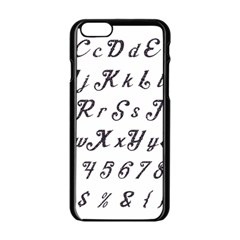 Font Lettering Alphabet Writing Apple Iphone 6/6s Black Enamel Case by Celenk