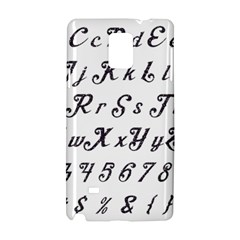 Font Lettering Alphabet Writing Samsung Galaxy Note 4 Hardshell Case by Celenk