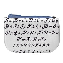 Font Lettering Alphabet Writing Large Coin Purse by Celenk