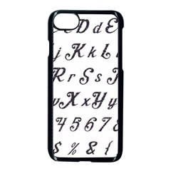 Font Lettering Alphabet Writing Apple Iphone 7 Seamless Case (black)
