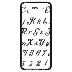 Font Lettering Alphabet Writing Samsung Galaxy S8 Black Seamless Case