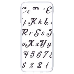 Font Lettering Alphabet Writing Samsung Galaxy S8 White Seamless Case