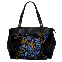 Multi Color Tile Twirl Octagon Office Handbags by Celenk