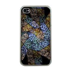 Multi Color Tile Twirl Octagon Apple Iphone 4 Case (clear) by Celenk