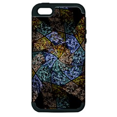 Multi Color Tile Twirl Octagon Apple Iphone 5 Hardshell Case (pc+silicone) by Celenk