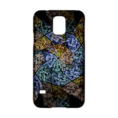 Multi Color Tile Twirl Octagon Samsung Galaxy S5 Hardshell Case  by Celenk