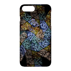 Multi Color Tile Twirl Octagon Apple Iphone 7 Plus Hardshell Case by Celenk