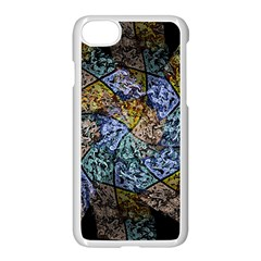 Multi Color Tile Twirl Octagon Apple Iphone 7 Seamless Case (white)