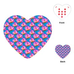 Seamless Flower Pattern Colorful Playing Cards (heart)