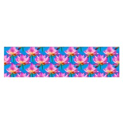 Seamless Flower Pattern Colorful Satin Scarf (oblong) by Celenk