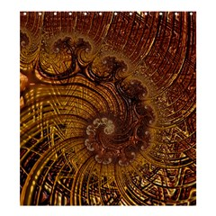 Copper Caramel Swirls Abstract Art Shower Curtain 66  X 72  (large)  by Celenk