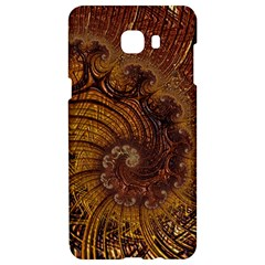 Copper Caramel Swirls Abstract Art Samsung C9 Pro Hardshell Case  by Celenk
