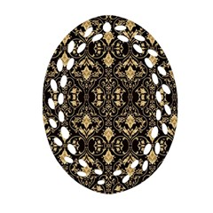 Wallpaper Wall Art Architecture Oval Filigree Ornament (two Sides) by Celenk
