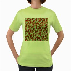Chickens Animals Cruelty To Animals Women s Green T-shirt by Celenk