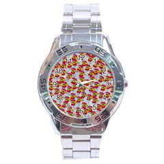 Chickens Animals Cruelty To Animals Stainless Steel Analogue Watch by Celenk