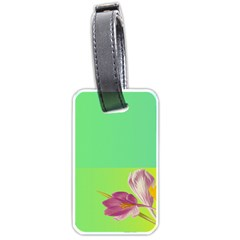 Background Homepage Blossom Bloom Luggage Tags (two Sides) by Celenk