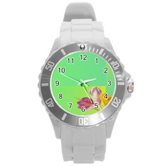 Background Homepage Blossom Bloom Round Plastic Sport Watch (l) by Celenk