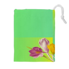 Background Homepage Blossom Bloom Drawstring Pouches (extra Large)