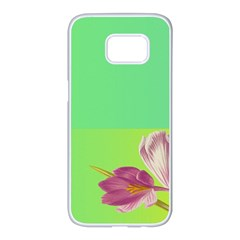 Background Homepage Blossom Bloom Samsung Galaxy S7 Edge White Seamless Case
