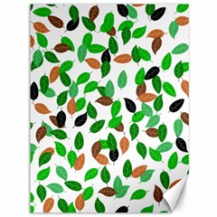Leaves True Leaves Autumn Green Canvas 36  X 48   by Celenk