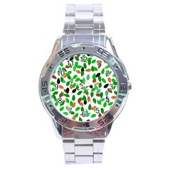 Leaves True Leaves Autumn Green Stainless Steel Analogue Watch by Celenk
