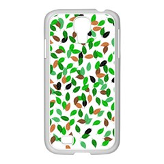 Leaves True Leaves Autumn Green Samsung Galaxy S4 I9500/ I9505 Case (white) by Celenk