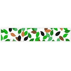 Leaves True Leaves Autumn Green Large Flano Scarf  by Celenk
