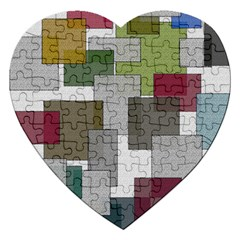 Decor Painting Design Texture Jigsaw Puzzle (heart)