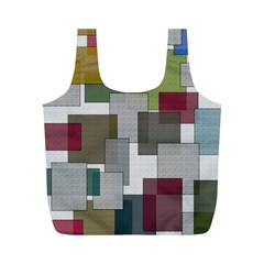 Decor Painting Design Texture Full Print Recycle Bags (m)  by Celenk