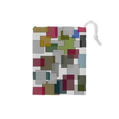 Decor Painting Design Texture Drawstring Pouches (small)  by Celenk